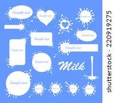 set of milk frames for text... | Shutterstock .eps vector #220919275