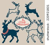 christmas set   collection of... | Shutterstock .eps vector #220921831