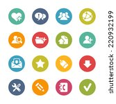 web icons    fresh colors   ... | Shutterstock .eps vector #220932199