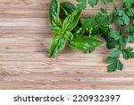 horizontal top view of fresh... | Shutterstock . vector #220932397