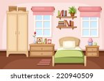 bedroom interior. vector... | Shutterstock .eps vector #220940509