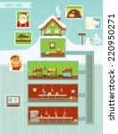 christmas infographic | Shutterstock .eps vector #220950271