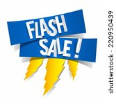 flash sale design with thunder... | Shutterstock .eps vector #220950439