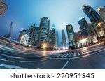 the street scene of the city in ... | Shutterstock . vector #220951945