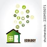 ecology design over white... | Shutterstock .eps vector #220955071