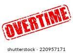 overtime red stamp text on white | Shutterstock .eps vector #220957171