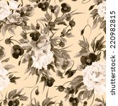 seamless floral pattern with... | Shutterstock . vector #220982815