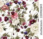 seamless floral pattern with... | Shutterstock . vector #220982845
