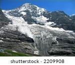Winter landscape in the Alps - stock photo