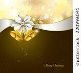 christmas background.  | Shutterstock .eps vector #220996045