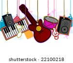 Musical Instruments - Vector - stock vector