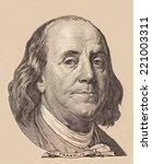 portrait of benjamin franklin | Shutterstock . vector #221003311