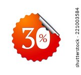 30  sale sticker. vector... | Shutterstock .eps vector #221003584