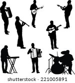 musicians collection   vector 1 | Shutterstock .eps vector #221005891