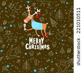 vector christmas illustration... | Shutterstock .eps vector #221010511