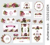 elegant cards with floral... | Shutterstock . vector #221011024