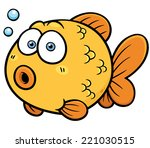 vector illustration of goldfish | Shutterstock .eps vector #221030515