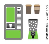 vending machines coffee and... | Shutterstock .eps vector #221044771