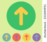 set of flat arrows icons