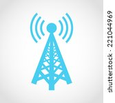 cell phone tower icon isolated... | Shutterstock .eps vector #221044969
