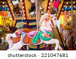 Colorful Wood Carousel Horse A...