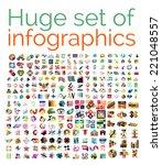 huge mega set of infographic... | Shutterstock .eps vector #221048557
