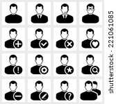 users icon vector black on... | Shutterstock .eps vector #221061085