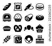 flat icon set for bakery ...   Shutterstock .eps vector #221061235