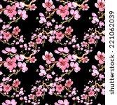 flowers pattern  | Shutterstock . vector #221062039