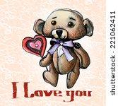 teddy   Shutterstock .eps vector #221062411