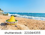 typical spanish sombrero hat at ... | Shutterstock . vector #221064355