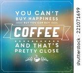 retro coffee label   vintage... | Shutterstock .eps vector #221071699