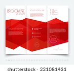 vector modern tri fold brochure ... | Shutterstock .eps vector #221081431