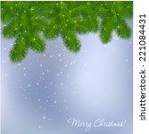 elegant vintage christmas card  ... | Shutterstock .eps vector #221084431