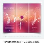 vector modern tri fold brochure ... | Shutterstock .eps vector #221086501