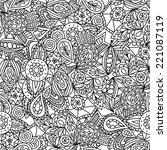 cute abstract seamless pattern... | Shutterstock .eps vector #221087119