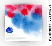 watercolor vector banner ... | Shutterstock .eps vector #221100805