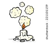 cartoon melting candle | Shutterstock .eps vector #221101159