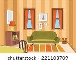 livingroom | Shutterstock .eps vector #221103709