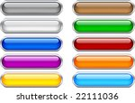 web shiny buttons. used mesh. | Shutterstock .eps vector #22111036