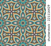 indian seamless floral pattern. ... | Shutterstock .eps vector #221116429