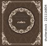 vintage  invitation border and... | Shutterstock .eps vector #221116804