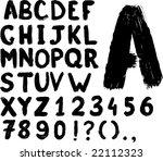 grunge hand written vector...   Shutterstock .eps vector #22112323