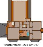 vector house building... | Shutterstock .eps vector #221124247