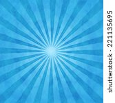 blue background with star rays... | Shutterstock . vector #221135695