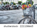 old bicycle with flowers in hdr ... | Shutterstock . vector #221138665