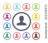 profile flat icons set. open... | Shutterstock .eps vector #221145571