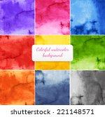 vector watercolor backgrounds... | Shutterstock .eps vector #221148571