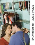 hispanic couple shopping in... | Shutterstock . vector #221149321