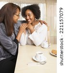 african american mother and... | Shutterstock . vector #221157079